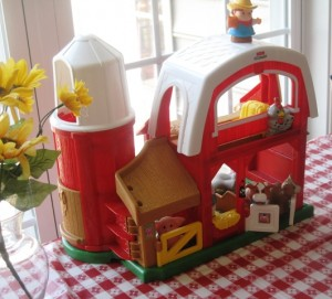 Barn and farm animals - toy and table centerpiece