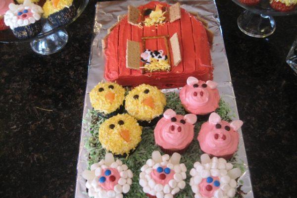 Stupendous Barn Birthday Cake Personalised Birthday Cards Veneteletsinfo