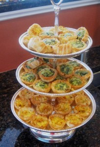 Mini Quiches - snack fit for a Princess