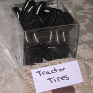 Oreo cookies taste better as tractor tires