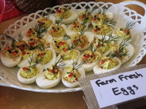 Party food - deviled eggs