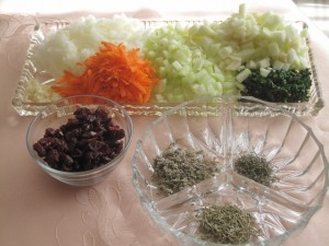 Herbs and spices for stuffing