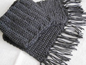 Gray Scarf - with fringes