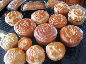 Ukrainian Traditional Paska - 3 batches of Paska baking