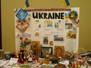 Ukrainian table - close up view