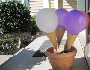 Outdoor Ice Cream Cones decor