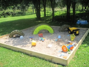 Backyard Beach - Oversized Sand Box