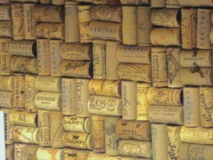 Wine Cork backsplash - close up 2