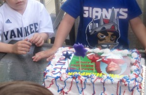 Birthday Cake - Yankees and Giants well represented