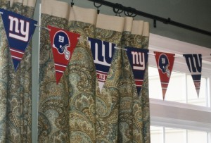 NY Giant's decor