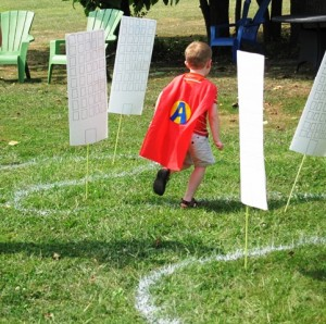 Super Heroe in action- start of obstacle course