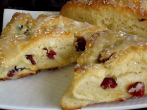 Orange Cranberry Scones - serving 2