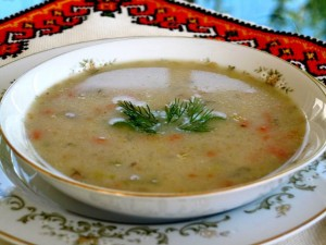 Potato and Leek Soup - serving