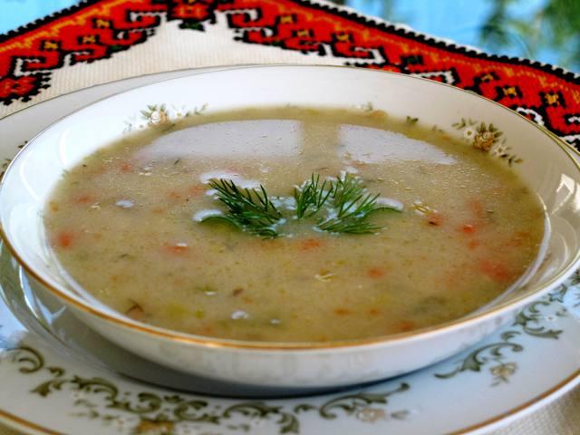 Potato and Leek Soup - serving