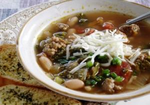 Sausage and Kale soup 1