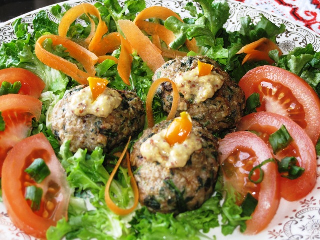 Turkey meatballs with spinach