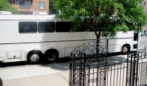 Party Bus for the Bride and Groom and Bridal Party