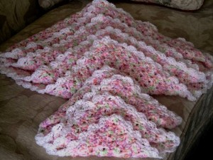 Baby Girl And Dolly Blanket My Crochet Project Suburban Grandma
