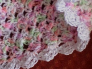 Baby blanket - close up view