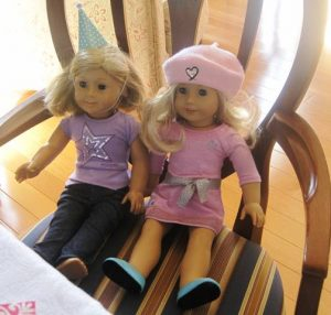 American Girl Dolls ready to party