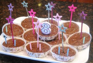 Birthday Brownie cupcakes