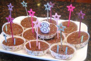 Birthday Brownie cupcakes
