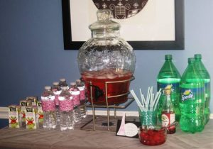 Shirley Temples fancy party drinks