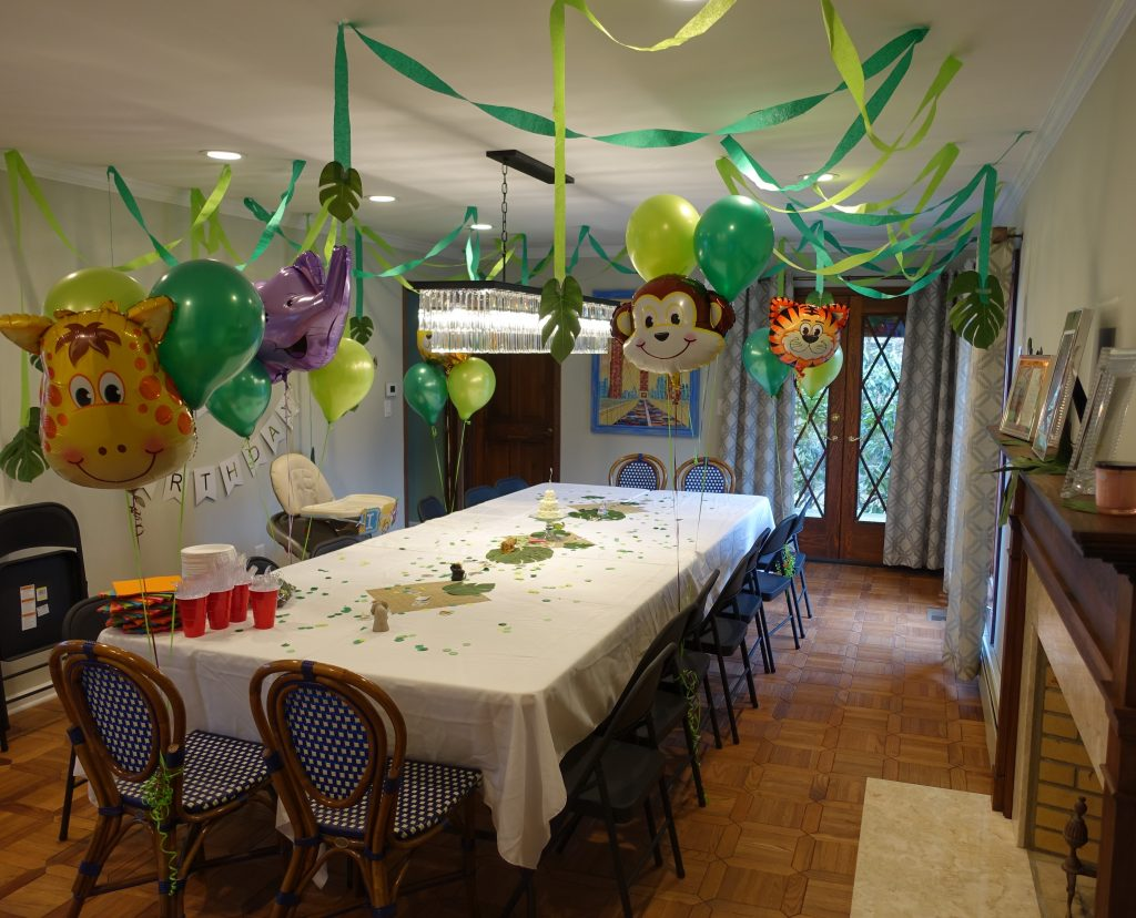 The Party Room Is All Set Up For Guests And Birthday Girl Who Was Celebrating Her First