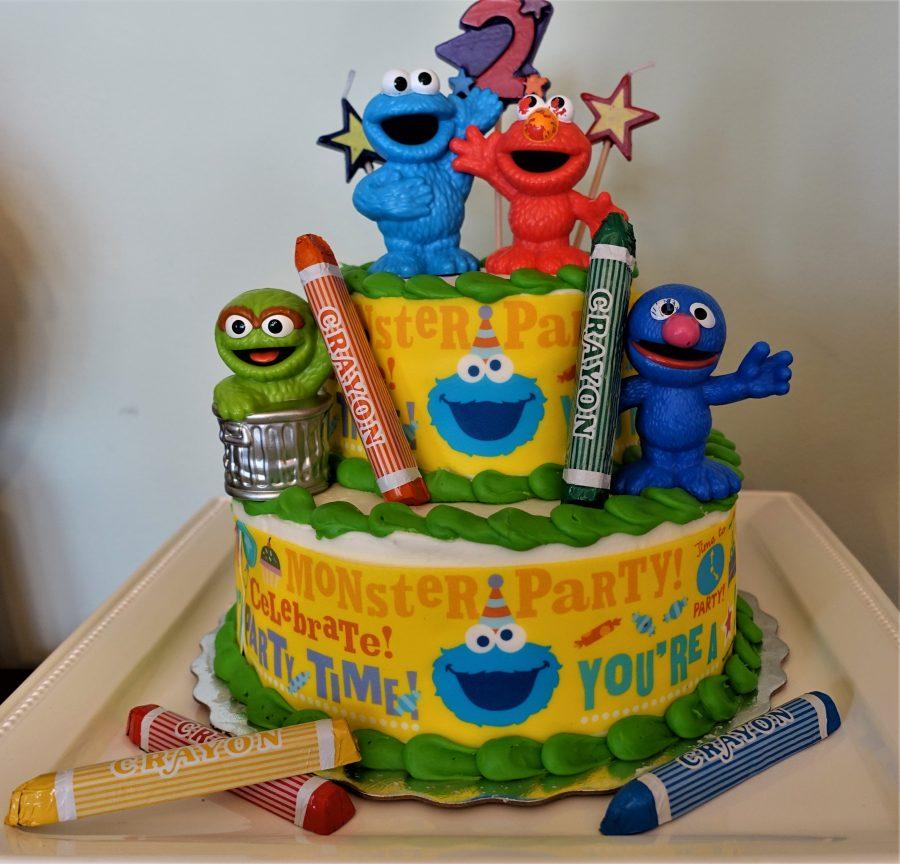 Sesame Street Birthday Cake.Sesame Street Theme Birthday Party Suburban Grandma