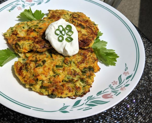 Zucchini and Goat Cheese Fritters – Recipe